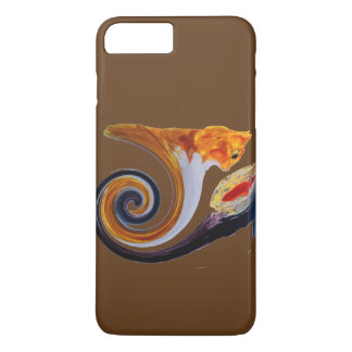 Funny Ginger Cat Goldfish abstract musical art iPhone 7 Plus Case