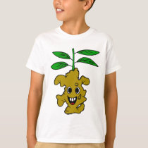Funny Ginger Plant Illustration T-Shirt