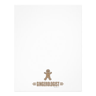 """Funny Gingerbread 8.5"""" X 11"""" Flyer"""