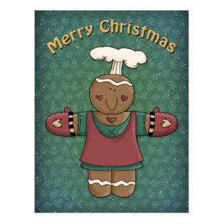 Funny Gingerbread Girl Postcard