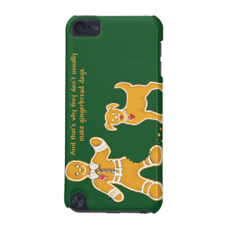 Funny Gingerbread Man and Dog for Christmas iPod Touch 5G Covers