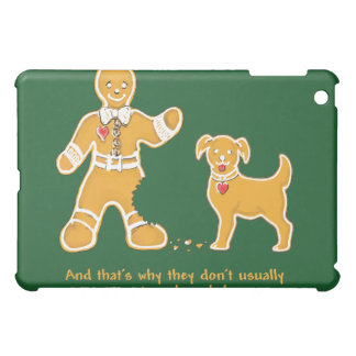 Funny Gingerbread Man and Dog for Christmas Case For The iPad Mini