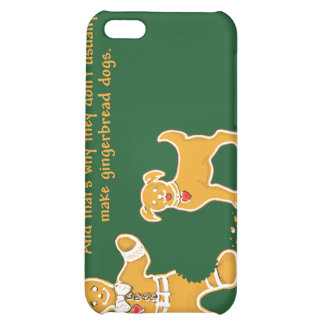 Funny Gingerbread Man and Dog for Christmas iPhone 5C Cover