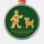 Funny Gingerbread Man and Dog for Christmas Christmas Tree Ornaments