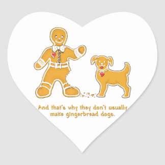 Funny Gingerbread Man and Dog for Christmas Sticker