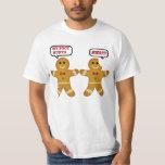 "Funny Gingerbread Man Christmas T-Shirt<br><div class=""desc"">Tacky,  funny,  bitten gingerbread man cookies.</div>"