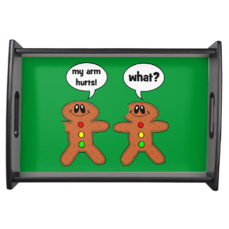 funny gingerbread man serving trays