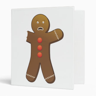 Funny Gingerbread man with half Eaten Arm 3 Ring Binder