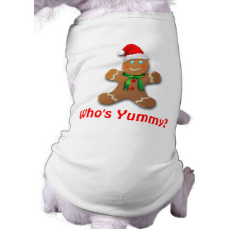 Funny Gingerbread Man with Santa Hat Tee