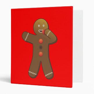 Funny Gingerbreadman eating himself 3 Ring Binder