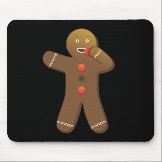 Funny Gingerbreadman eating himself Mouse Pad