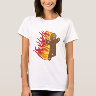 Funny Gingerbreadman on fire T-Shirt