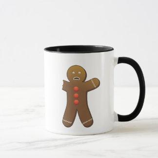 Funny Gingerbreadman with half eaten arm Mug