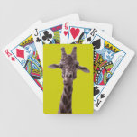 Funny Giraffe Bicycle Playing Cards