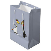 Funny Giraffe Bride and Groom Gift Bag