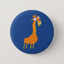 Funny Giraffe Button