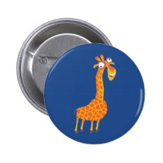 Funny Giraffe Button at Zazzle