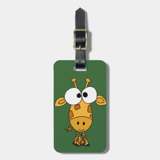 Funny Giraffe Cartoon Bag Tag