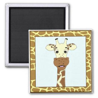 Funny giraffe cartoon kids magnet
