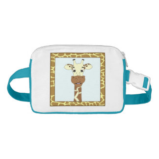 Funny giraffe cartoon kids waist bag