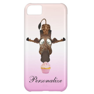 Funny Giraffe & Cupcake Personalized iPhone 5 Case For iPhone 5C