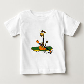 Funny Giraffe in Kayak Baby T-Shirt