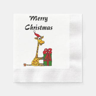 Funny christmas cocktail napkins