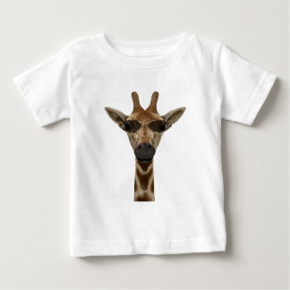 Funny Giraffe Incognito With Trendy Sunglasses Baby T-Shirt