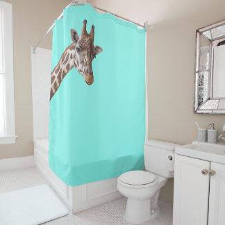 Mint Green Shower Curtain. Funny Giraffe is Watching You on Mint Green Shower Curtain Curtains  Zazzle