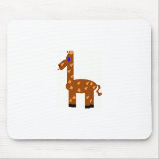 funny giraffe mouse pad