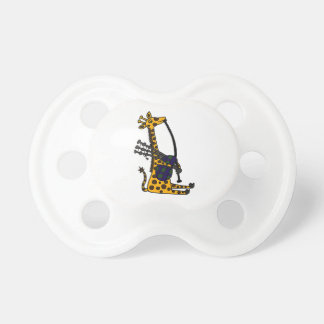 Funny Giraffe Playing Bagpipes Art Pacifier