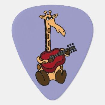 Funny Giraffe Playing Guitar Guitar Pick by inspirationrocks at Zazzle