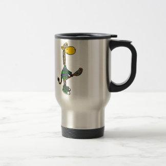 Funny Giraffe Playing Lacrosse Travel Mug