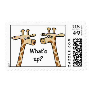 Funny Giraffe postage stamps