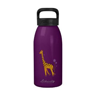 Funny Giraffe Roller Skating Drinking Bottle