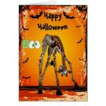 Funny Giraffe & Spider Halloween Card