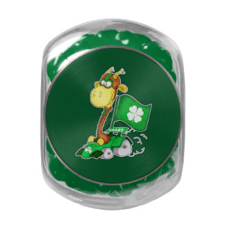 Funny Giraffe St. Patrick's Day Candy Jelly Belly Candy Jar