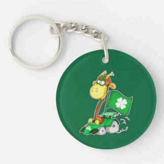 Funny Giraffe St.Patrick's Day Gift Keychains