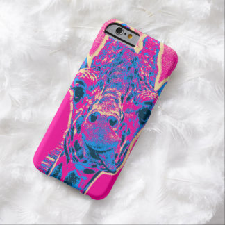 Funny Giraffe Sticking out his Tongue Barely There iPhone 6 Case