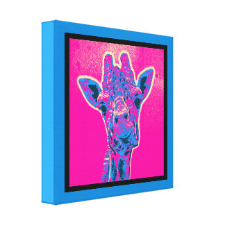 Funny Giraffe Sticking out his Tongue Canvas Print