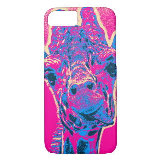 Funny Giraffe Sticking out his Tongue iPhone 7 Case