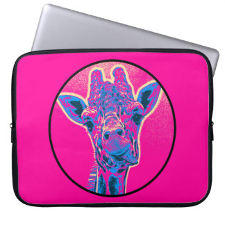 Funny Giraffe Sticking out his Tongue Laptop Sleeve