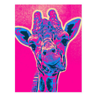 Funny Giraffe Sticking out his Tongue Postcard