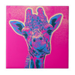 Funny Giraffe Sticking out his Tongue Tile