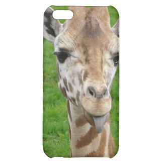 Funny Giraffe Sticking Out Tongue! iPhone 5C Cover