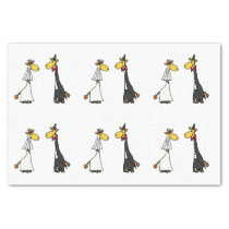 Funny Giraffe Wedding Tissue Paper
