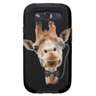 Funny Giraffe with Bowtie and Monocle Samsung Galaxy SIII Cases