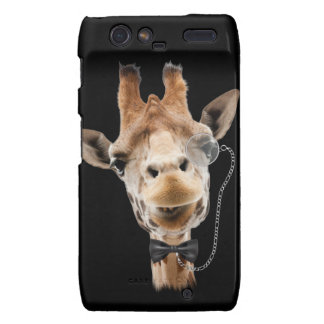 Funny Giraffe with Bowtie and Monocle Droid RAZR Case