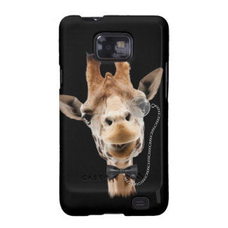 Funny Giraffe with Bowtie and Monocle Galaxy S2 Case