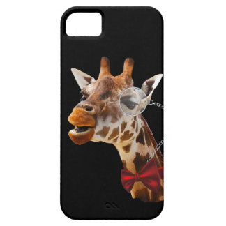 Funny Giraffe with Bowtie and Monocle iPhone 5 Case